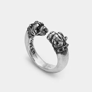 Crazy Dog Silver Ring