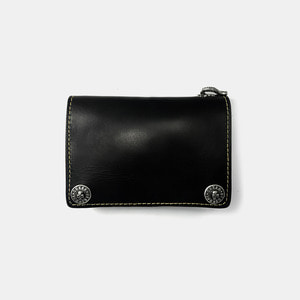 575 Leather Wallet #061 Horse Strips Special black