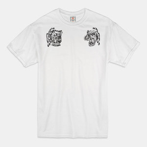 Angry Animals T-Shirts white/black