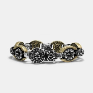 Flower Combi Bracelet Brass Base