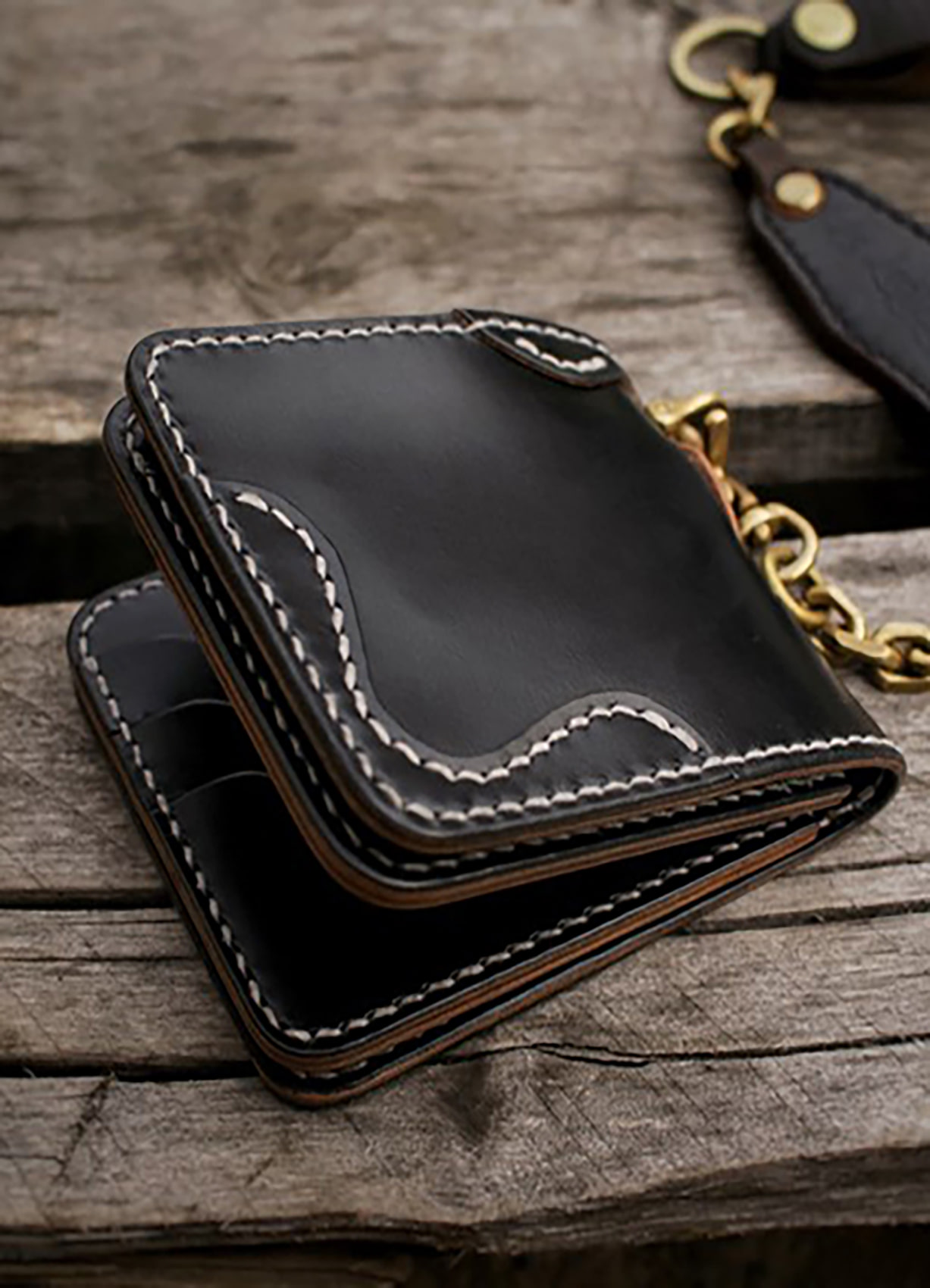 Q's Bifold wallet type.2 BLACK/A.BRIDLE