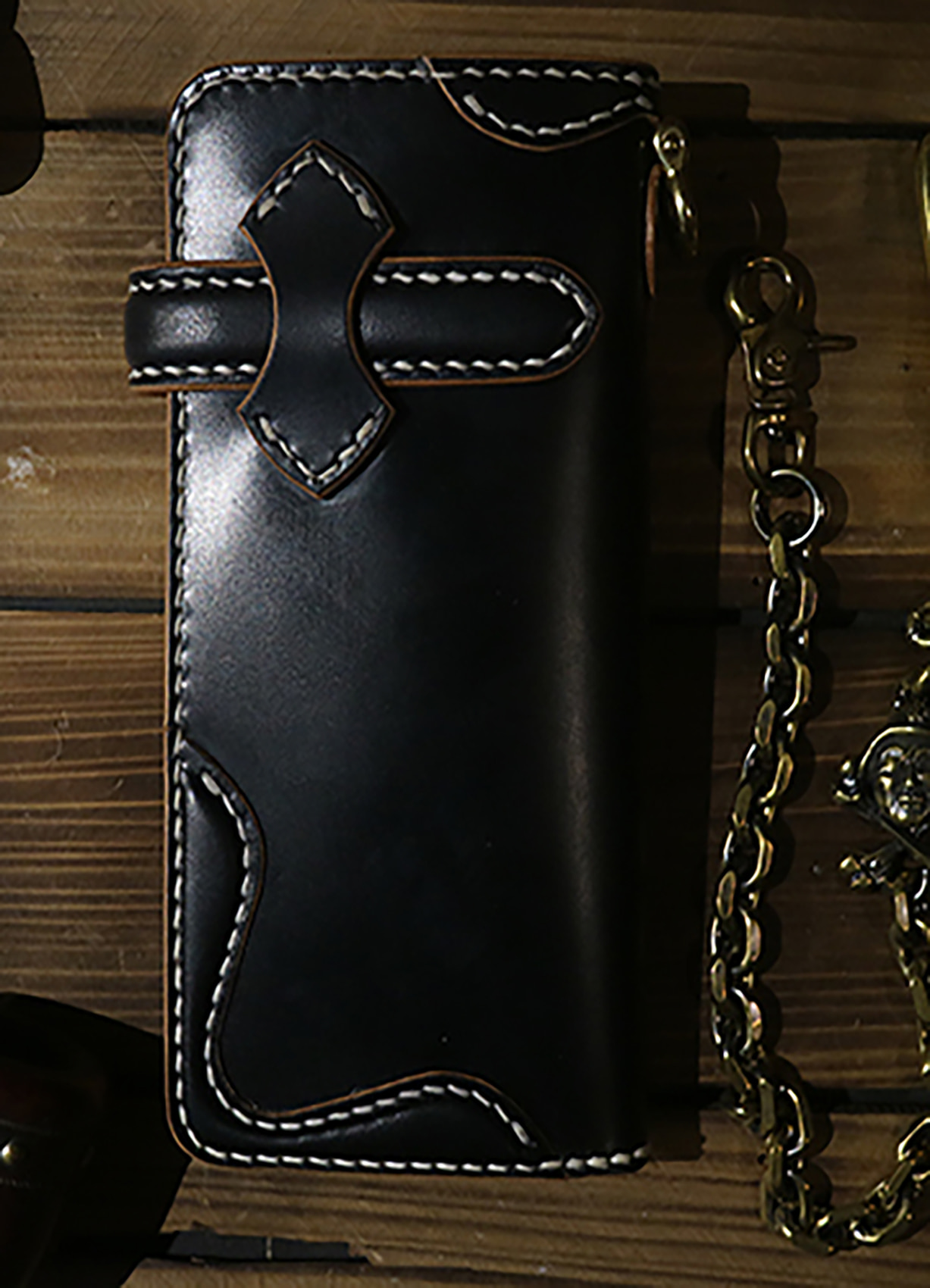 Q's trucker wallet BLACK/BRIDLE (FB)