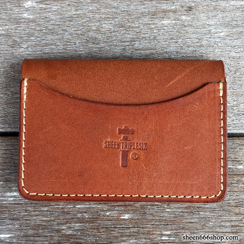 575 #054 LTD Card Holder Cow Leather tan/natural