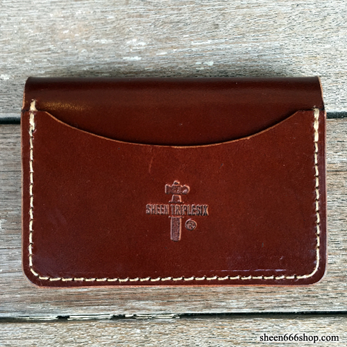 575 #051 LTD Card Holder Cow Leather gross brown/natural